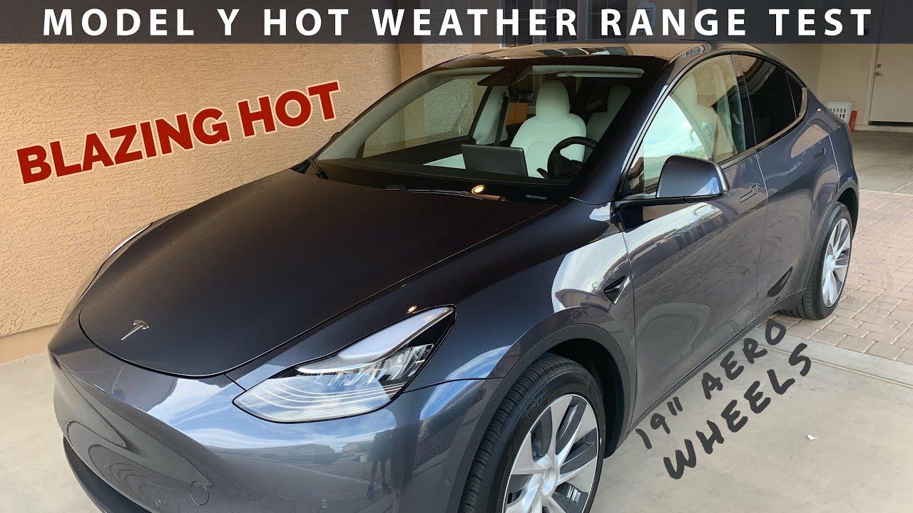 Tesla Model Y Desert 70mph Range Test (Dual Motor Long Range)