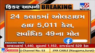 Gujarat reports 5011 new COVID19 cases, 2525 discharges and 49 deaths, in last 24 hours  TV9News