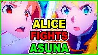 Goddess Asuna Vs Alice! Asuna Meets Kirito Potato  | SAO Alicization War of Underworld Episode 10