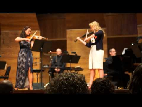 inspirational left handed violinist, Claire Zollinger plays with Jenny Oaks