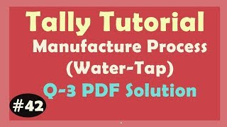 Manufacture Process Accounting - Q3 : Water Tap | Learn Tally ERP9 with PDF Solution Hindi