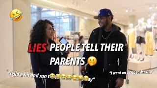 BIGGEST LIE YOU'VE TOLD YOUR PARENTS 🤭 PUBLIC INTERVIEW