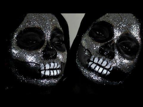 diamond-/-glitter-skull-halloween-makeup-tutorial-//-easy-last-minute-halloween-costume-idea-!