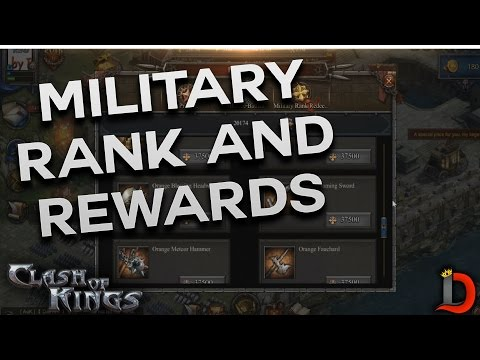 MILITARY RANK SYSTEM & REWARDS (CLASH OF KINGS)