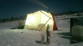 Моя нова палатка Снігур 4Т long, огляд підводної камери FISH FINDER PRO + риболовля Якутія Yakutia