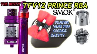 BEST BUILD! SMOK TFV12 PRINCE TANK RBA BUILD AND WICKING TUTORIAL STICK PRINCE