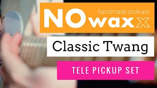 NOwaxx Classic Twang Pickup Set DEMO with my new DIY Pinecaster