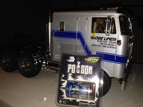 RC TRAIL GLOBE LINER POISON TRUCK MOTOR CHANGE AND A LITTLE REVIEW ALONG THE WAY