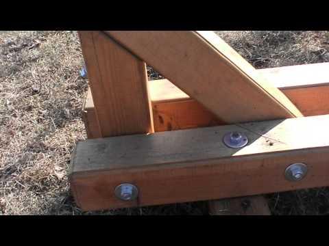 Cмотреть видео онлайн Гамак  подставка для гамака своими руками-hammock