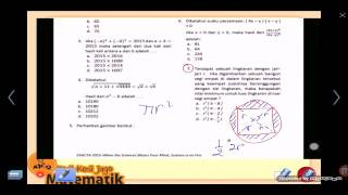 Tes Masuk SMA 7 Matematika Lingkaran dan Persegi
