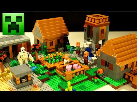 Lego Minecraft the Village 21128 - Деревня Лего Майнкрафт + Мультики и Обзор на русском языке