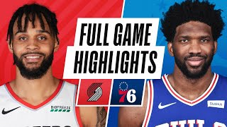Download TRAIL BLAZERS at 76ERS | FULL GAME HIGHLIGHTS | February 4, 2021