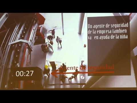 VIDEO: Mi Teleférico muestra video del incidente de la niña y la abuela en la línea Roja