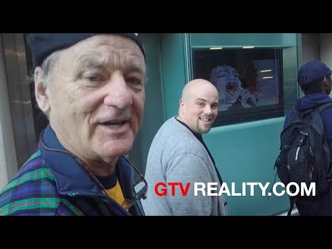 Bill Murray walks around New York talks Puerto Rico