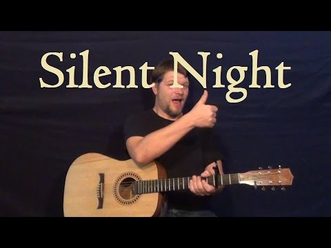 Silent Night - Easy Guitar Lesson Strum Chord How to Play Christmas Carol