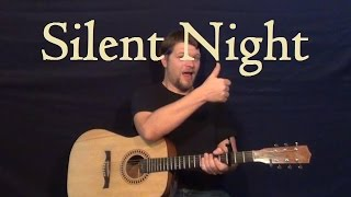 Download lagu Silent Night - Easy Guitar Lesson Strum Chord How to Play Christmas Carol