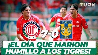 ¡Goleada histórica! Bruno Marioni y el Toluca golean a los Tigres I Toluca 7-0 Tigres AP06 I TUDN