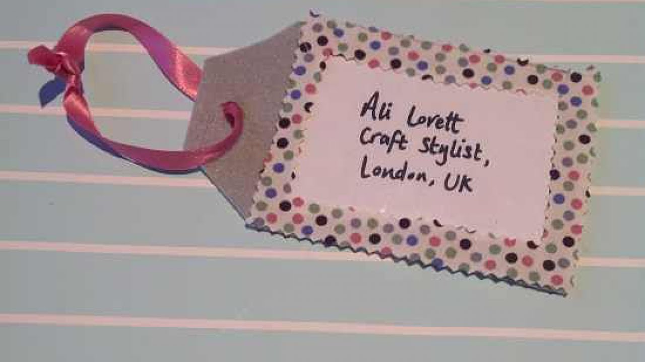 how to make a cute luggage tag diy style tutorial guidecentral