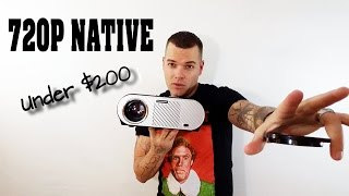 Best 720p Projector Under $200 2017| New 720p Native Projector
