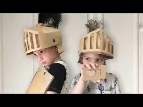 How to make a Cardboard Knights Helmet