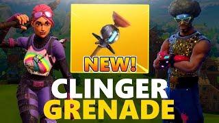 NEW CLINGER GRENADE - Xbox Fortnite Player Fortnite Battle Royale Gameplay