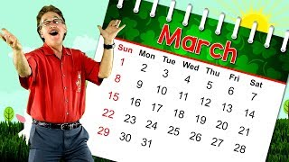 The Month Of March | Calendar Song For Kids | Month Of The