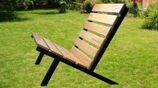 DIY modern outdoor chair.