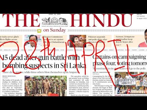 The Hindu Newspaper 28th April 2019