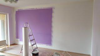 Покраска стен в квартире. Германия.