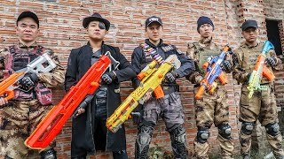 LTT Game Nerf War : Captain Warriors SEAL X Nerf Guns Fight Black Man Catch The Intruder