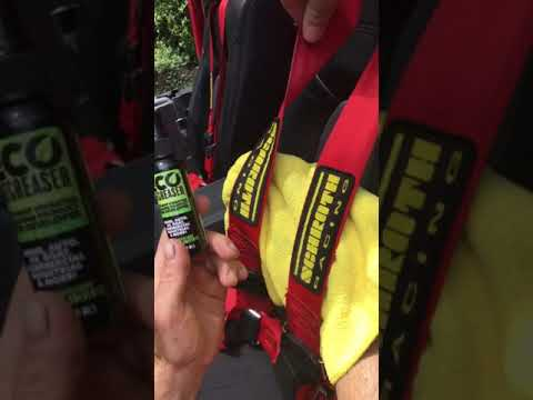 How to clean seat belts - Schroth Racing Jeep 4-point belts