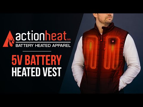 ActionHeat Battery Heated Vest - ActionHeat Heated Clothing