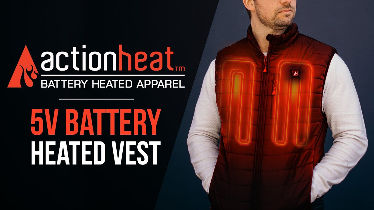 Heated Vest Canada Actionheat Battery Heated Vest Actionheat Heated Clothing