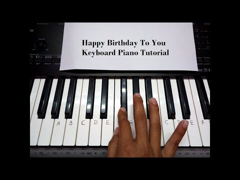 Happy Birthday To You Song Piano Notes