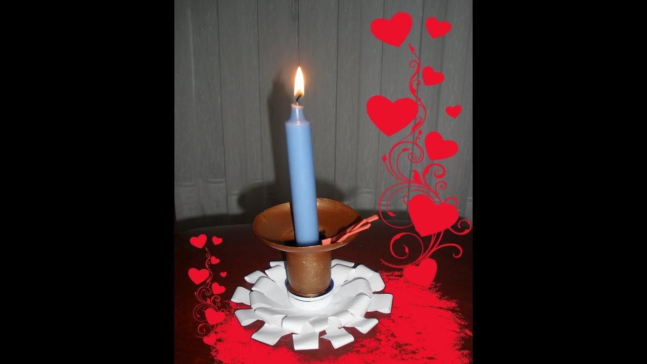 Como hacer un candelabro portavelas centro de mesa diy - Como hacer centro de mesa ...