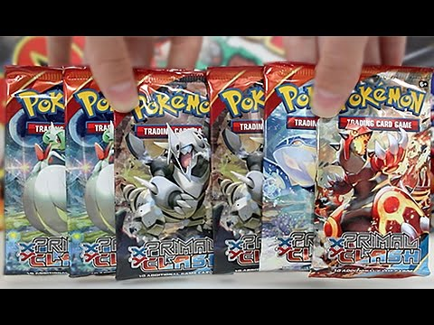 Opening 6 Pokemon Primal Clash Booster Packs!!