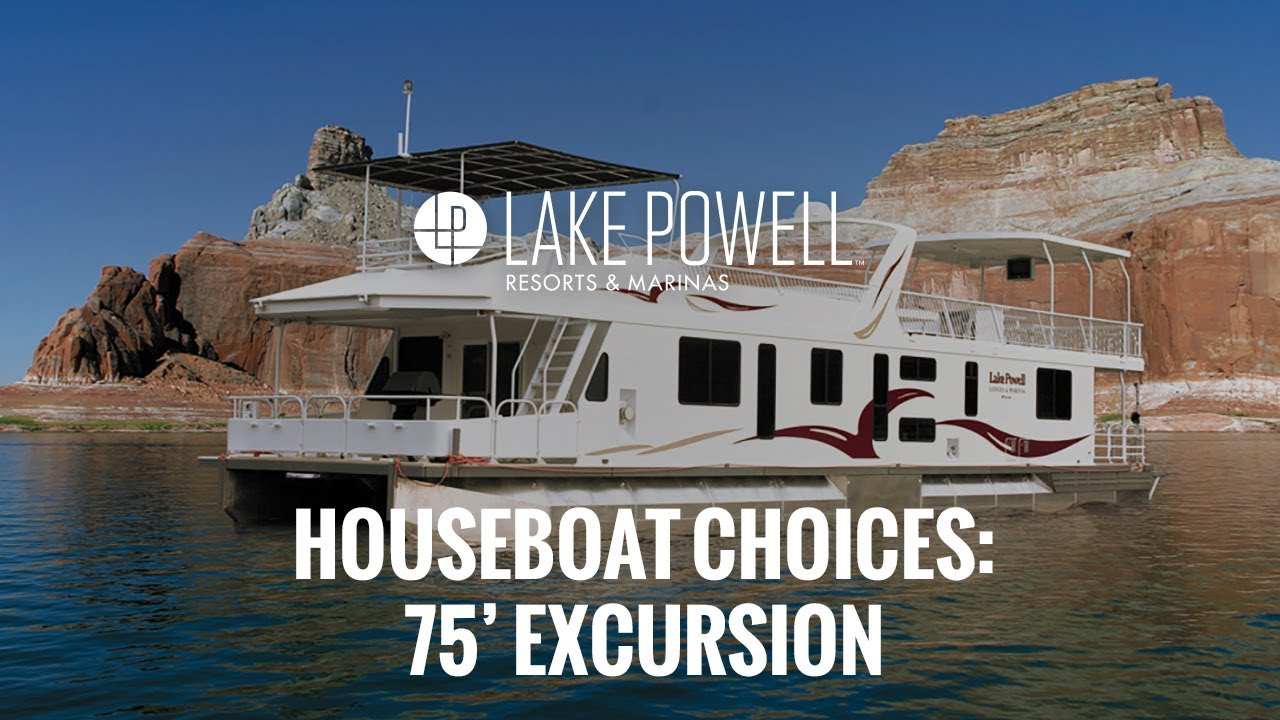 Luxury Class 75 Excursion Lake Powell Houseboat Youtube