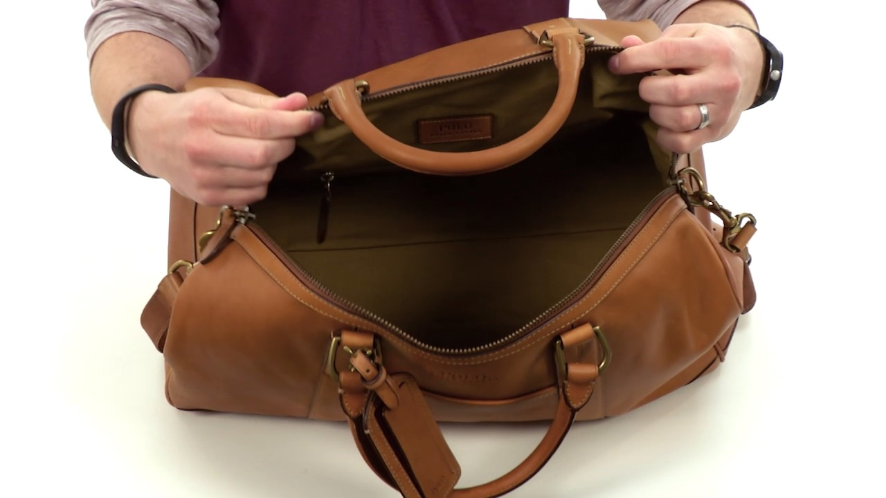 7db712e67b90 Polo Ralph Lauren Core Leather Duffel SKU:8864118 - YouTube