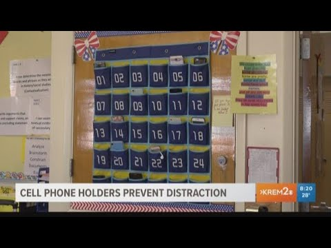 Cellphone holders prevent distractions at Spokane middle school
