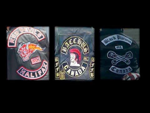 Police briefing on outlaw biker clubs in Nova Scotia, Canada