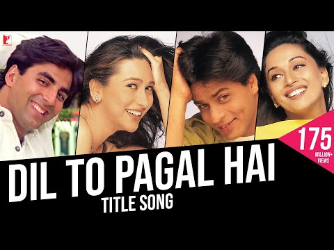 Dil To Pagal Hai  Full Title Song  Shah Rukh Khan  Madhuri  Karisma  Akshay  Lata  Udit