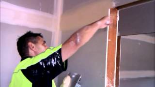 Plastering How to Trowel the Topcote  on Plasterboard Joins ~ Hawthorn Plaster Repairs