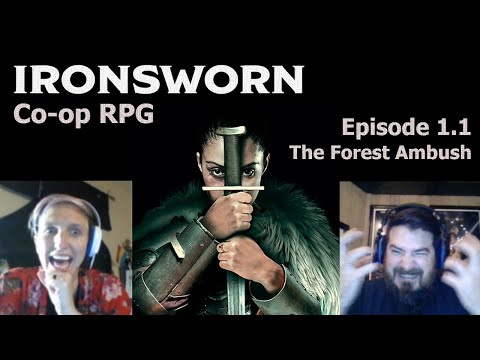 Ironsworn Co-op RPG | Episode 1, Part 1 - Ambushed In The Forest | Learning / Tutorial Series