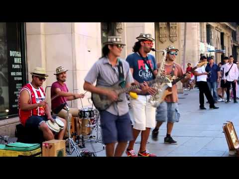 La Rambla, Barcelona - Common street music