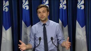 Point de presse de Québec solidaire concernant l'annonce de la politique culturelle du PLQ