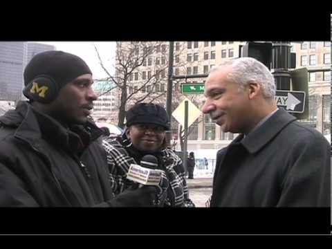 interviews with public officials at the 2010 Motown Winter Blast Campus Martius Park Detroit