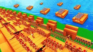 Wooden Soldier D Day Attack In Wooden Battles (wooden Battles D Day Invasion Funny Gameplay)