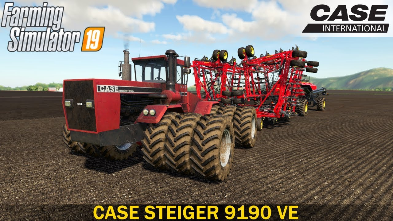 Farming Simulator 19 CASE STEIGER 9190 VE Tractor with Triple Wheels