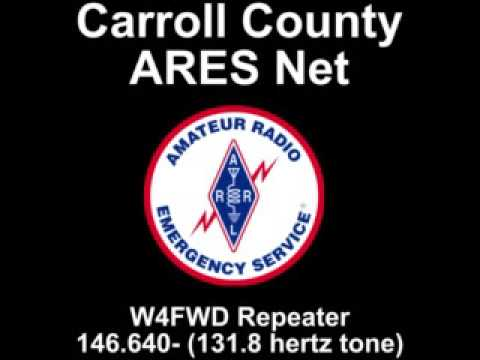 Carroll County ARES (Amateur Radio Emergency Service) Net - 7/27/2017