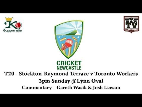 2.30pm Start time Newcastle T20 - Round 1 - Stockton v Toronto